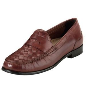 Cole Haan Laurel Woven Leather Moccasin Loafers